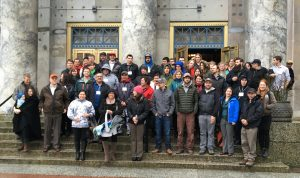 Participants of the 2016 Summit at the Alaska State Capitol in Juneau.